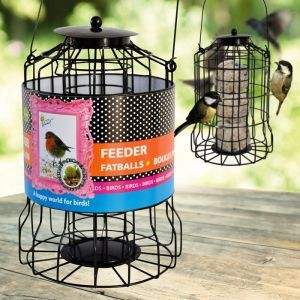 Mangeoire protectrice pour oiseaux